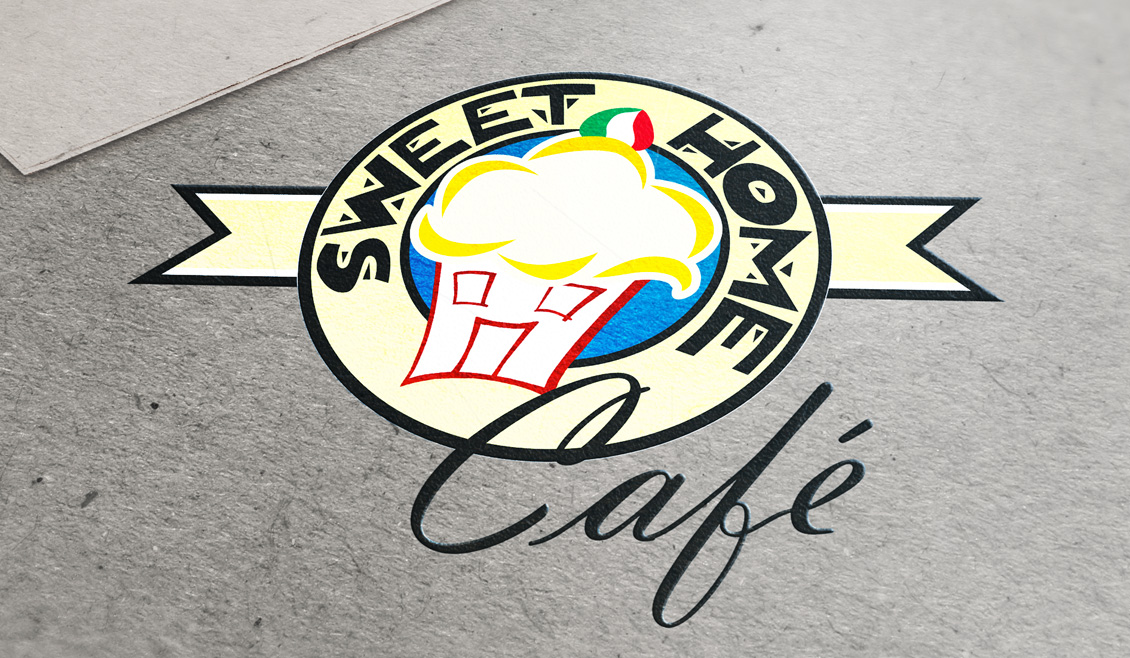 Ideazione Logo Sweet Home Cafe 01